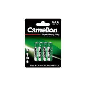 Батарейка Camelion R03P-BP4 GREEN 48/1152