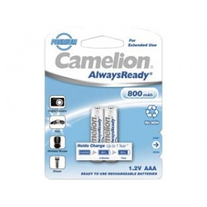 Аккумулятор Camelion AAA-800-BP2 NH Always Ready 24/480